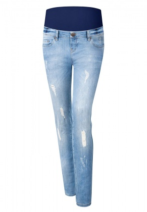 Umstandsjeans Brooklyn Blues bleached denim