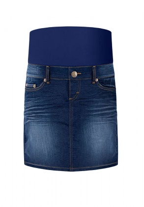 Umstandsrock Invisible Woman blue denim
