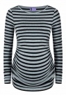 Umstandsshirt Runaway Girl black striped