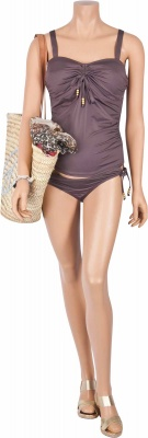Umstandstankini Cameron taupe grey