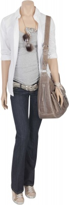 Stillbluse It`s a Boy Girl Thing white, Umstandstop Step Up grey, Umstandsjeans From Russia with Love dark denim, Wickeltasche