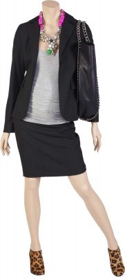 Umstandsblazer Company Business black, Umstandstop Step Up grey, Umstandsrock Two Weeks Notice black