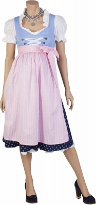 Umstandsdirndl Enzian blue light pink
