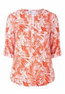 Stillbluse Palm Beach Story coral